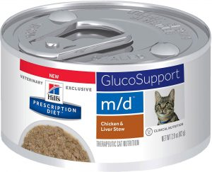 28) Hill's Prescription Diet m/d GlucoSupport Chicken & Liver Stew Canned Cat Food